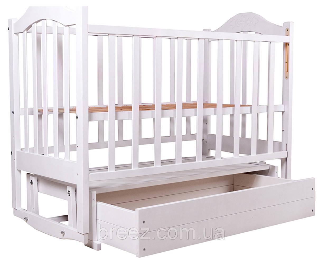 Кровать детская BabyRoom Дина D301 маятник, ящик береза белая