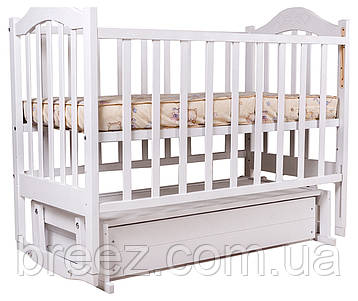 Кровать детская BabyRoom Дина D301 маятник, ящик береза белая, фото 2