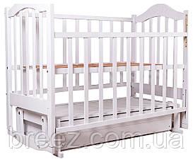 Кровать детская BabyRoom Дина D301 маятник, ящик береза белая, фото 3