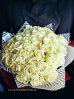 Букет из 51 белой розы Аваланч, фото 1