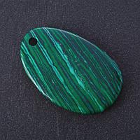 Кулон Малахитнат камень срез 5х3см (+-)