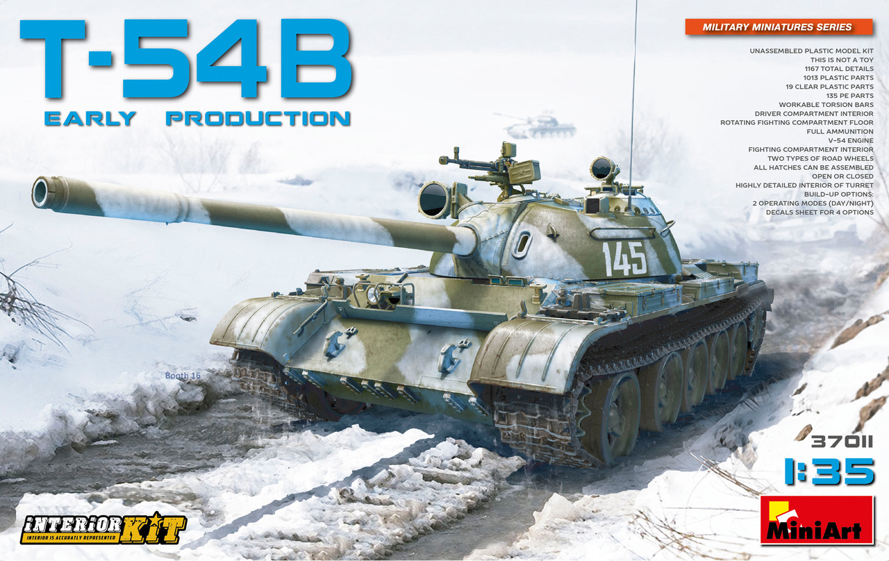 Т-54Б СОВЕТСКИЙ СРЕДНИЙ ТАНК. РАННИХ ВЫПУСКОВ. 1/35 MINIART 37011
