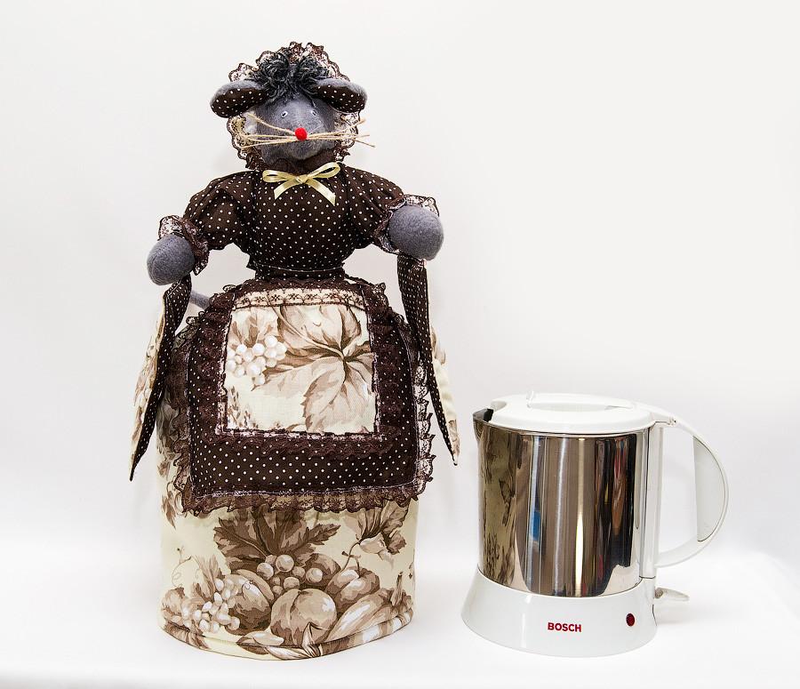 Грелка на чайник Мышка с прихватками