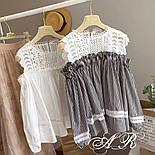 Женская стильная блуза с кружевом (4 цвета), фото 2