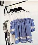 Женская стильная блуза с кружевом (4 цвета), фото 3