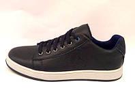 Туфли-слипоны подростковые кожаные черные Uk0182