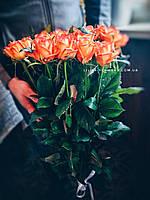 Букет из 25 метровых оранжевых роз, фото 1