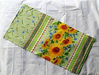 Полотенце кухонное узорчатое с подсолнухами