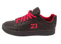 Туфли-слипоны подростковые кожаные черные Uk0343
