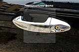 Хром накладки на дверные ручки пластик Mitsubishi grandis (митсубиси грандис 2003г+), фото 2