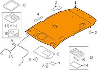 Обшивка потолка серая K - GRAY Nissan Leaf ZE0 / AZE0 (10-17) 73910-3NA0A
