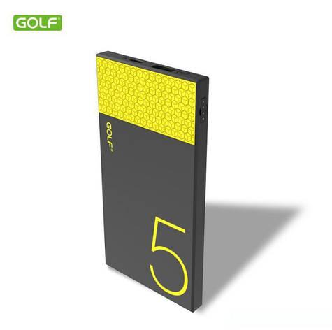 Power Bank GOLF Hive5 black-yellow 5000mah, фото 2