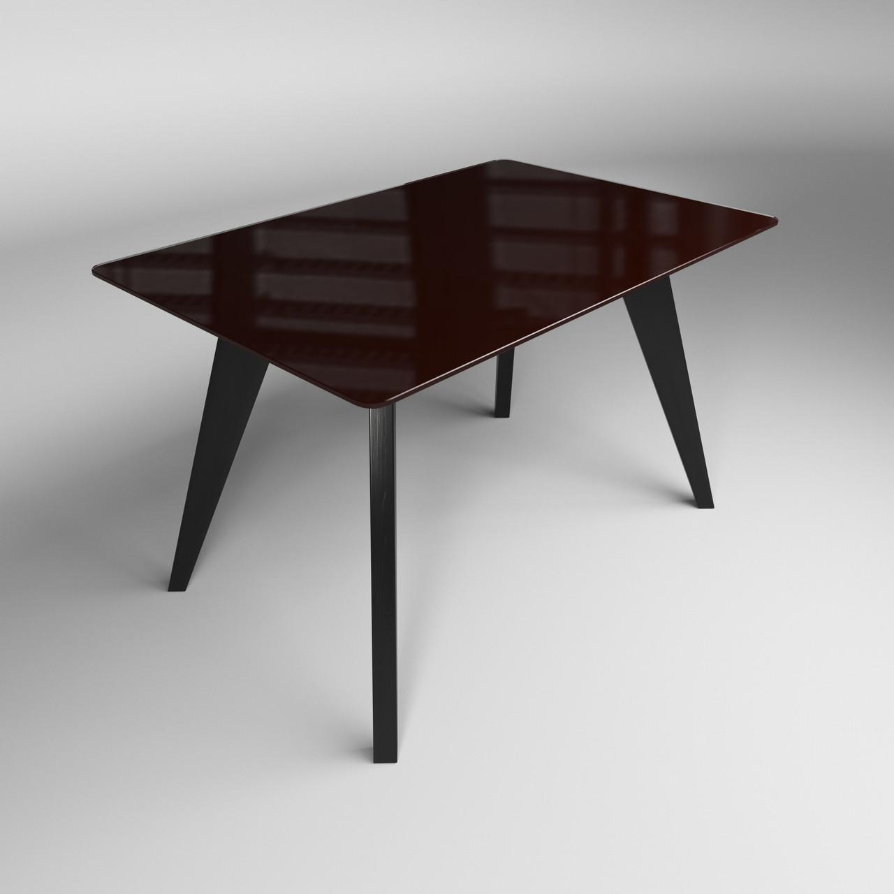 Стол Леонардо коричнево-черный