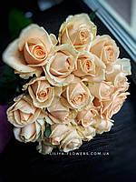 Букет из 19 кремовых роз