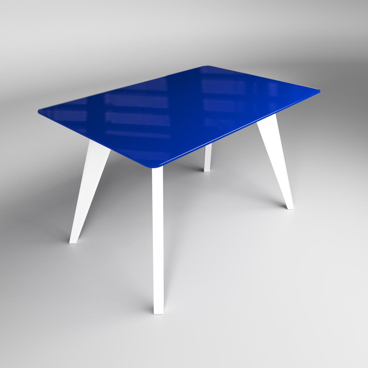 Стіл Леонардо синьо-білий