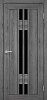 Дверь VALENTINO DeLuxe  VLD-05. Со стеклом сатин (дуб марсала,дуб грей,дуб беленый,орех,венге). KORFAD(КОРФАД)