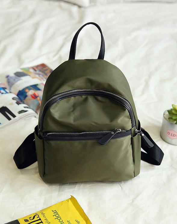 Модный портфель для девушек зеленый