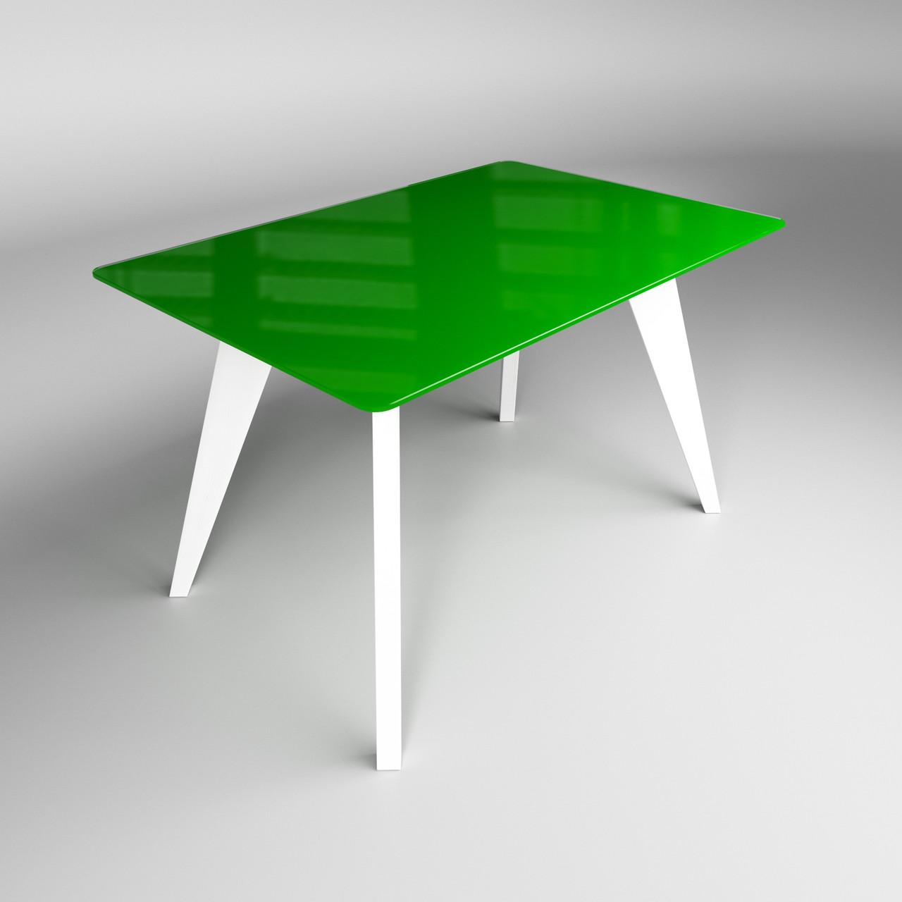 Стол Леонардо зелено-белый