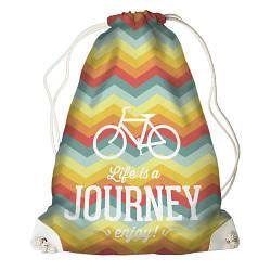 Рюкзак-мішок Life is a journey (RM_TRV001_WH)