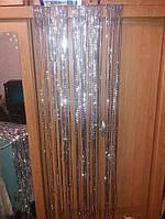 Дождик серебристы рифленный 1,5м*24см