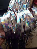 Дождик серебристый с голограммой для фотозоны (высота 2м, ширина1м)