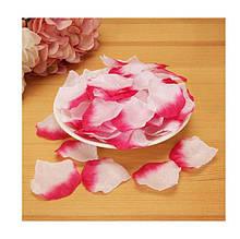 Искусственные лепестки роз двухцветные 100шт. (светлее чем на фото)