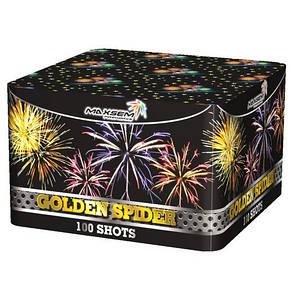Фейерверк \ Салютная установка GOLDEN SPIDER Золотой паук Калибр 20 мм \ 100 выстрелов MC114