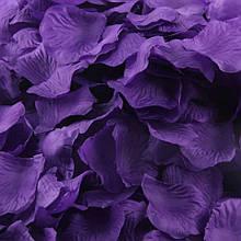 Искусственные лепестки роз фиолетовые 200шт.