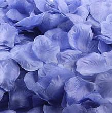 Искусственные лепестки роз сиреневые - в наборе около 200шт., размер лепестки 4,5*4,5см, текстиль