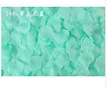 Ментоловые лепестки роз - в наборе около 100шт., размер лепестка 5*4,5см, текстиль