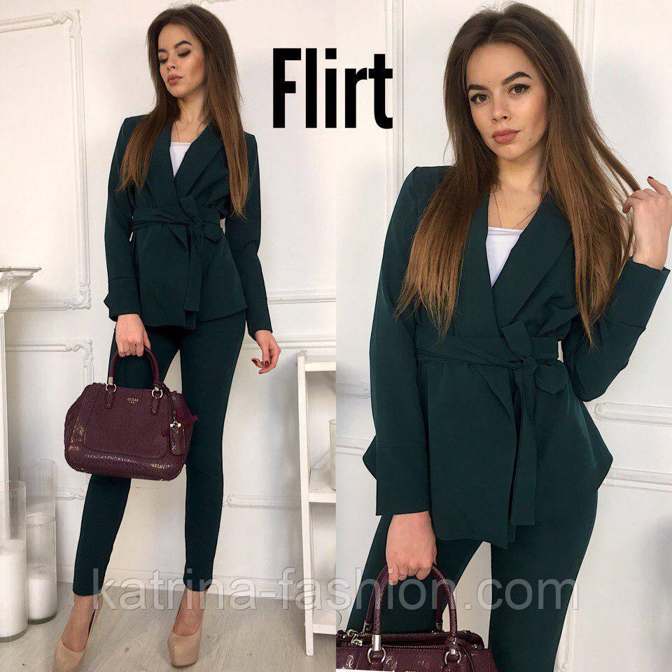 4c512c3f221 Женский стильный брючный костюм с поясом  кардиган и брюки (5 цветов)   продажа