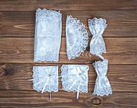 Набор платочков для венчания белый