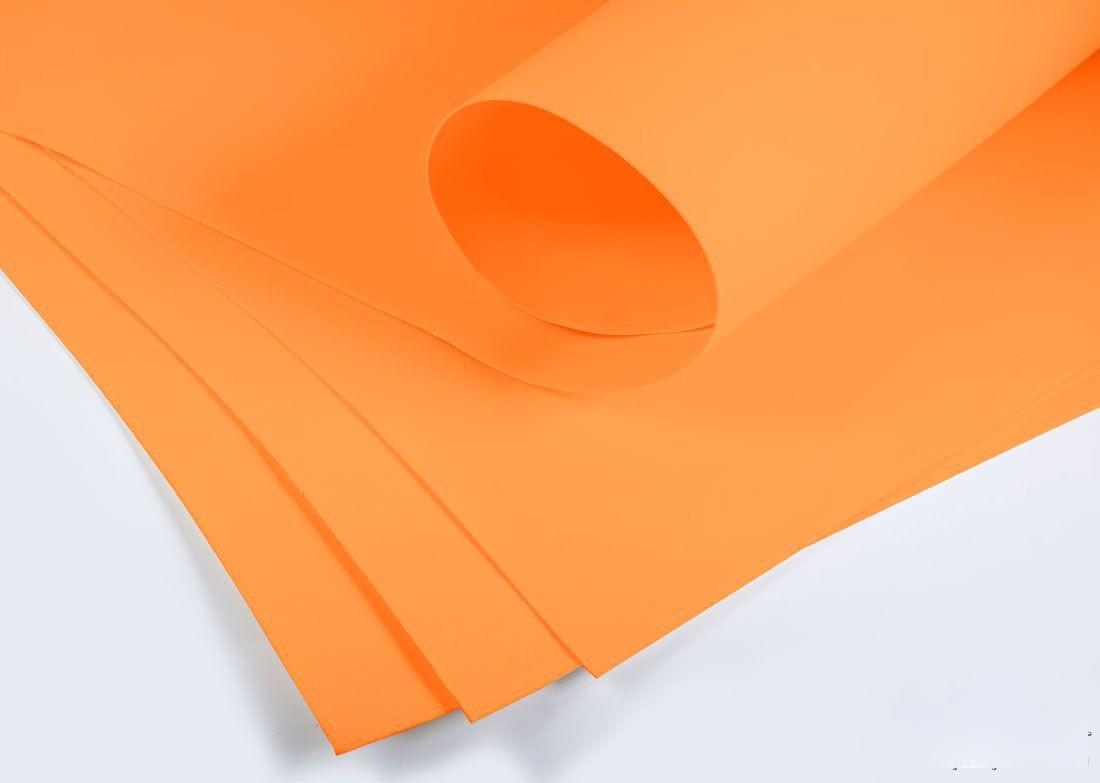 Фоамиран 3мм - листовой (1000*1500мм) оранжевый