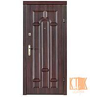"""Входная дверь в квартиру """"Арка"""" серии """"Эконом"""" (тёмный орех)"""