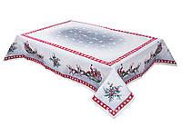 Скатерть гобеленовая новогодняя с серебряным люрексом 97х100 см, Lefard, 063-041