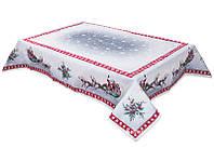 Скатерть гобеленовая новогодняя с серебряным люрексом 137х280 см, Lefard, 063-046