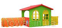 Садовый игровой домик с тунелем MOCHTOYS