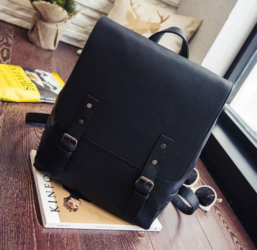 Стильный портфель для девушек черный