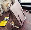 Стильный портфель для девушек розовый, фото 2