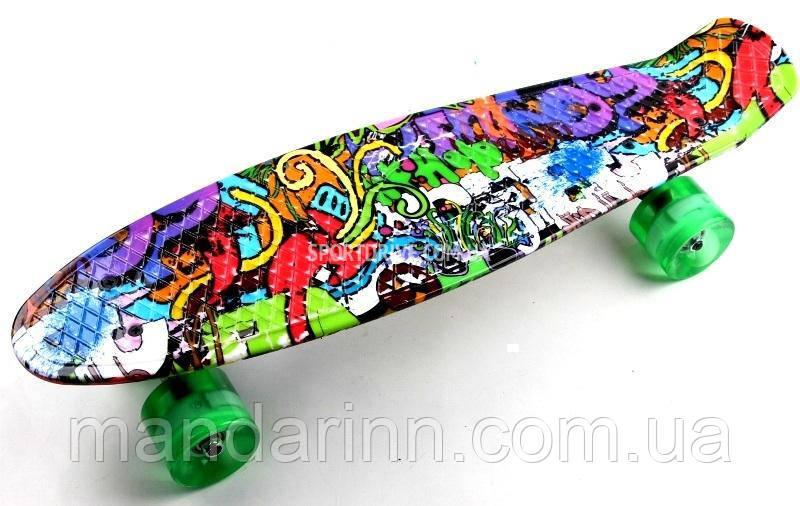 Penny Скейтборд ORIGINAL Graffiti 2-LED