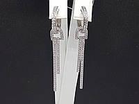 Серебряные серьги с фианитами. Артикул 25049р, фото 1