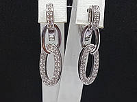 Серебряные серьги с фианитами. Артикул 25001р, фото 1