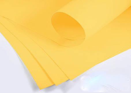 Фоамиран 2мм - листовой (1000*1500мм) желтый, фото 2
