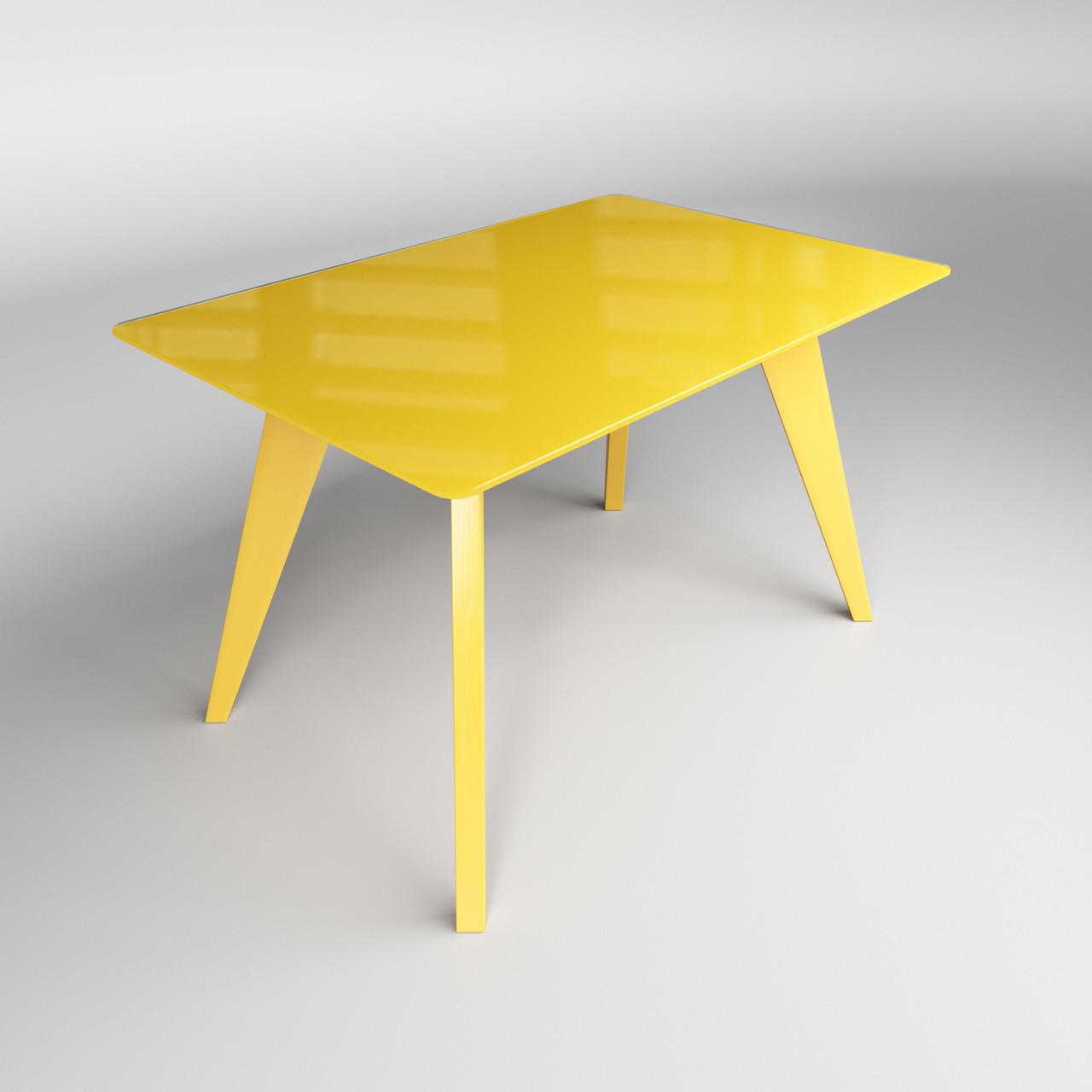 Стол Леонардо желтый
