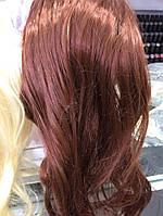 Голова учебная (иск. волосы, длинна 45 см.) коричневая