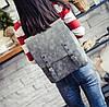 Стильный портфель для девушек черный, фото 9
