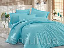 Комплект постельного белья сатин тм Hobby семейный размер diamond stripe аква