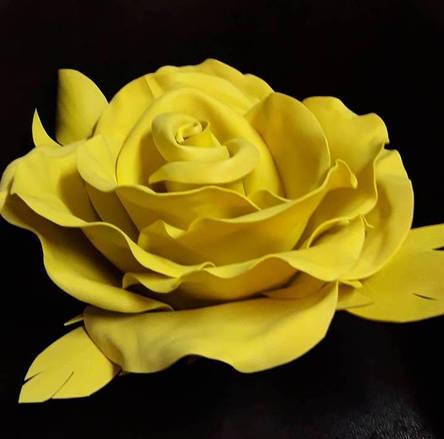 Фоамиран 3мм - листовой (1000*1500мм) желтый, фото 2