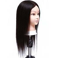Голова учебная (иск. волосы, длинна 45 см.) черная