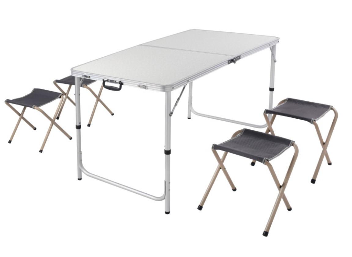 Набор для кемпинга (стол + 4 стула)